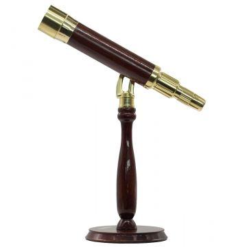 saxon Grandeur Brass Table-Top Telescope