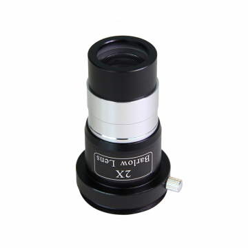 "saxon 1.25"" 2x Short-Focus Barlow Lens with Camera Adapter - SKU#530005"