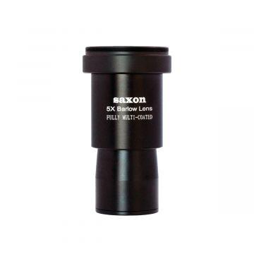 "saxon 1.25"" 5x Short-Focus Barlow Lens with Camera Adapter"