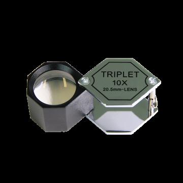 saxon 10x Metal Loupe Jeweller Magnifier Silver (20.5mm) - SKU#332053