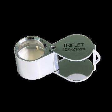 saxon 10x Metal Loupe Jeweller Magnifier Silver (21mm) - SKU#332063