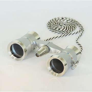 saxon 3x25 Opera Glasses with Light (Silver) - SKU#150013