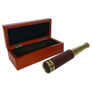 saxon Brass Hand Scope with Wooden Box - SKU#260002