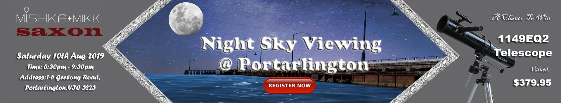 Night Sky Viewing @ Portarlington